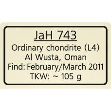 Jiddat al Harasis 743 / JaH 743